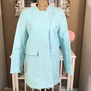 ZARA Flash Sale! ✨Trafaluc Baby Blue Coat NWOT !